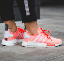 ADIDAS NMD R1 WOMENS RUNNER SHOES CORAL SUN ORANGE SIZE 5-10 BY3034 BOOST ULTRA