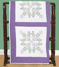 Stamped White Quilt Blocks 18 Inch X 18 Inch 6/Pkg-Starflowers 013155471397