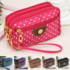 New Womens Cloth Zip Fashion Wallet Clutch Card Holder Coin Purse Small Handbag