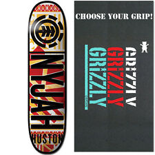 """ELEMENT Skateboard Deck NYJAH HUSTON KNOCKOUT 8.25"""" with GRIZZLY GRIPTAPE"""
