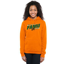 Florida A&M Rattlers Women's Double Bar Pullover Hoodie - Orange - NCAA