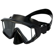 Promate Panoramic 3-Window Scuba Dive Purge Mask Snorkeling Silicone Skirt Strap