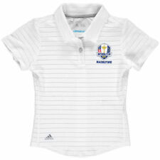 adidas Youth 2016 Ryder Cup Cotton Hand Stripe climacool Polo - White - Golf