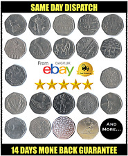 50p Fifty Pence Coin Complete Collection British Coins RARE VARIATIONS - L@@K