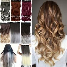 100% Thick One Piece Real Clip in 5% Remy Human Hair Extension Full Head Long TL