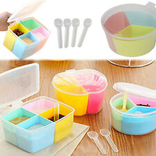 Plastic Kitchen Spice Jar Cereal Condiment Seasoning Container Storage With Lid
