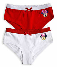 Girls Minnie Mouse Briefs New Kids Disney Shorts Knickers Pants 5 - 12 Years