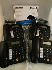 HOME SMALL OFFICE PBX 308 TELEPHONE SYSTEM AND 4 X BT Phones