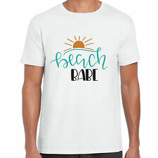 Beach Babe - Mens Size T shirt - Summer Holiday Gift Tee