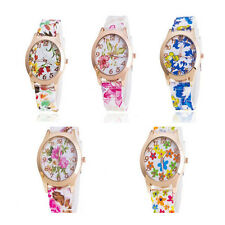 Jelly Silicone Sports Floral Quartz Watches Watch Women  1Pcs New Girls Fashion