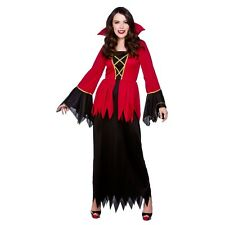 Ladies Vampiress Halloween Costume for Fancy Dress Womens