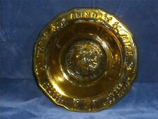 Vintage Tiara Glass Bowl Amber Yellow Cereal Nursery Rhymes Mother Goose Fairy