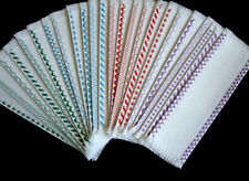 Lot 6 Fabric Bookmarks For Cross Stitch/Various Sizes & Colors/Shipping Included