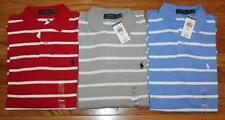 NWT Mens Polo Ralph Lauren Classic Fit Striped Polo Shirt Pony Logo 3 Colors *2S