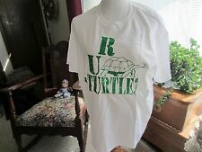 NEW RUAT unisex T shirts graphics on front & back ARE YOU A TURTLE?  size LARGE