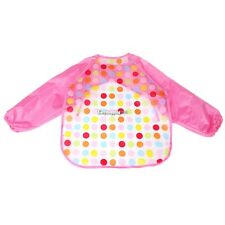 New Boys Girls Kids Toddler Waterproof Bibs Long Sleeve Baby Smock Apron ES9P01