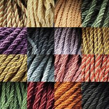CLEARANCE 8mm Cord Costume Bag Handle Barley Twist Upholstery Rope BUY 1 2 4 8m