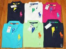 NWT Womens Polo Ralph Lauren Fitted Polo Shirt BIG PONY LOGO Choice 6-Colors *4S