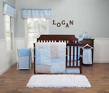 Trend Lab Blue Bell Logan Baby Nursery Crib Bedding CHOOSE FROM 3 5 10 Piece Set