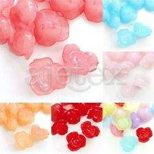 30pcs Jelly-like Acrylic Flower Beads DIY Jewelry Making 16x16x9mm 6 Colors