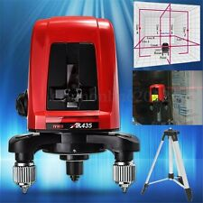 AK435 360 Degree Self-leveling Cross Laser Level Red 2 Line 1 Point + Tripod