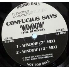 """CONFUCIUS SAYS Window 12"""" VINYL UK Koch 1997 4 Track Promo With Press Release 7"""