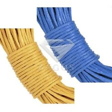 20M Waxed Cotton Wire Cord Bracelet Necklace Jewelry Findings 1x1mm Blue Yellow