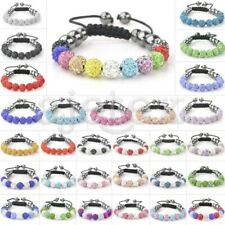 11pcs Crystal Disco Ball Rhinestones Beads Gift Adjustable Bracelet 30 Color