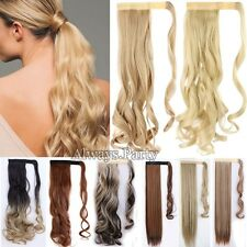 """Wrap Around Ponytail Clip In Hair Extensions Long 17-26"""" As Human Clearance Sale"""