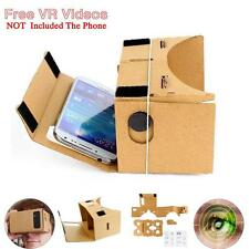Google Android IOS Cardboard 3D Virtual Reality Glasses With Free VR Movies BY