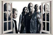Fate Of The Furious 8 3D Window Decal Wall Sticker Art Mural Fast J116
