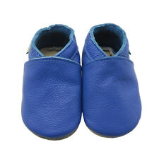 Sayoyo Baby Soft Sole Genuine Leather Toddler Infant Shoes Crib Moccasins Blue