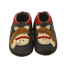 Sayoyo Baby Soft Sole Genuine Leather Toddler Infant Shoes Crib Horse Moccasins