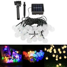 Outdoor String Lights 30LED 20ft Solar Powered String Ball shaped Decor Bulb EH7