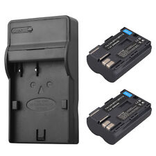 2 x Replacement BP-511 BP511A Camera Battery + Charger For Canon EOS 40D 300D 5D