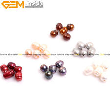 10-11mm Cultured Freshwater Pearl Big Hole Jewelry Making Beads In Bluk 10pcs