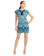 Laundry Blue Multi-Color Short Sleeve Shift Dress Sz XS, S, M NWT $138