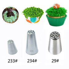 Grass Cream Icing Nozzles Stainless Steel Pastry  Fury Decoration Cupcake Head