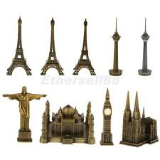 Bronze World Famous Building Architecture Model Statue Figurine Eiffel Tower