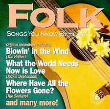 Songs You Know by Heart: FOLK by Various Artists (CD, Mar-1998, Unison) new CD