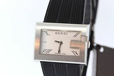 Ladies Gucci YA100507 100 Series G-Rectangle Stainless Silver-tone Dial Watch
