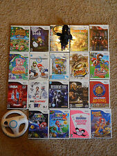 Nintendo Wii Games! You Choose from Large Selection! Many Titles! Mario Kirby