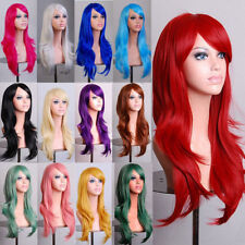 Women 10 Colors Long Hair Wig Curly Wavy Synthetic Anime Cosplay Party Full Wigs