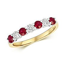 Ruby and Diamond Eternity Ring Yellow Gold Large Sizes R - Z Appraisal