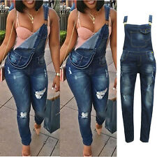 New Fashion loose Suspender Denim Jeans Overalls Rompers and Jumpsuits for Women