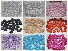 500 Round Flatback Acrylic Dotted Rhinestone Beads 6mm Color for Choice