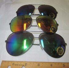 U Pick Vintage 1970's SUNGLASSES Mirror Aviator METAL Retro Lens TAIWAN Rainbow