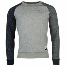 Puma Mens Heather Sweater Blouse Pullover Long Sleeve Crew Neck Top