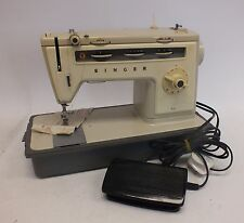 Vintage/Retro SINGER 514 Electric Sewing Machine with Foot Pedal & Case - Y06