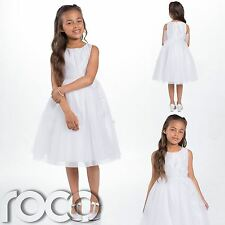 Girls White Dress, Flower Girls Dress, Bridesmaid Dresses, Girls Wedding Dress